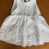 Vestido Bordado Branco - 9 meses - Baby boom