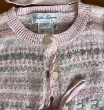 Casaquinho e Toca Lã Ralph Lauren - 3 meses - Ralph Lauren
