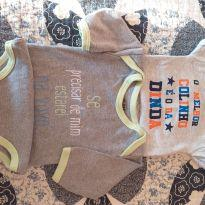 2 bodys bebê - 6 meses - Clube do Dino