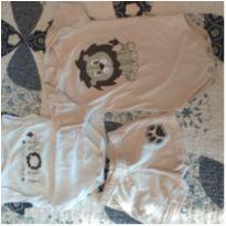 Conjuntinho baby safari - 3 meses - Marca não registrada
