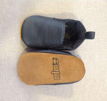 Sapato Couro Preto Mimomox - 15 - Não informada