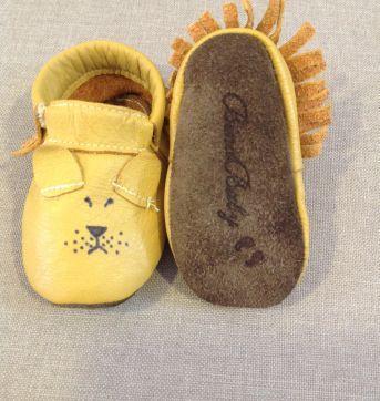 Sapato Couro Mocassim Lion BinaBaby - 13 - Não informada