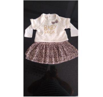 Vestido Oncinha e saia tutu - 9 a 12 meses - Chicco