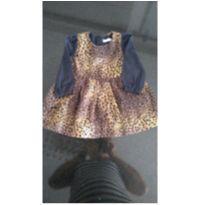 Vestido oncinha - 6 a 9 meses - Pituchinhus