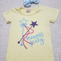 Camiseta Princess + faixinha - 1 ano - Kidstok