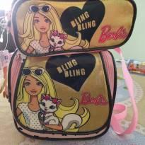 Kit lancheira e porta lápis da Barbie -  - Barbie