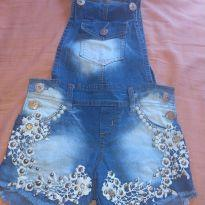 Jardineira jeans - 6 anos - Sem marca