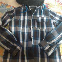 Camisa xadrez com capuz - 6 anos - Figurinha