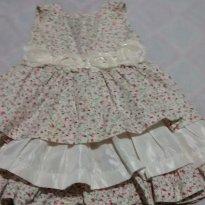 Vestido florido - 1 ano - pequerrucho