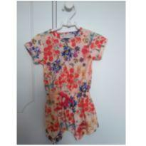 Macacão Floral UP BABY - 9 a 12 meses - Up Baby