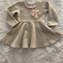 Vestido Dourado/Brilho - 9 a 12 meses - Alenice