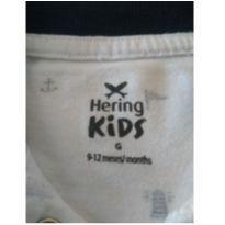 BoryHering Kids com gola - 6 a 9 meses - Hering Kids