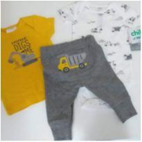 Kit 3 Peças Carters - 0 a 3 meses - Carter`s e Child of Mine