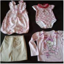 Lote com 4 peças roupas usadas meninas Lilica Ripilica - 16/24 meses - 12 a 18 meses - Lilica Ripilica