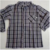 Camisa xadrez manga longa menino tam. 2 - Beth Bebê - 24 a 36 meses - Beth Bebê