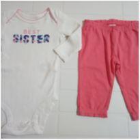 Kit com 4 peças roupas bebê meninas Carter´s 3 meses - 0 a 3 meses - Carter`s