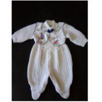 Macacão branco em lã - tam P - marca Fofinho - 0 a 3 meses - Fofinho
