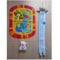 Lote Com 3 Brinquedos Para Bebê régua, tapete, urso - Fisher Price Buba Usados -  - Fisher Price