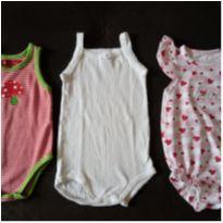 kit com 3 peças body bebê ou reborn 0-3 meses pouco usados - 0 a 3 meses - Paula Cahen D`Anvers