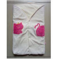Porta bebê saco de dormir em plush para menina - Bicho Molhado