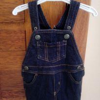 Jardineira Jeans menino 3 meses Carter`s - 3 meses - Carter`s