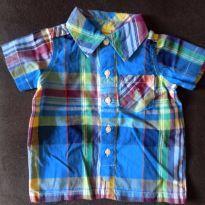 Camisa xadrez festa junina mesversario tam. 3 meses Ralph Lauren - 3 meses - Ralph Lauren