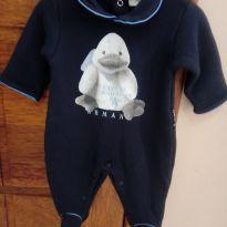 Macacão bebê menino RN Armani baby pouco usado - Recém Nascido - Armani baby