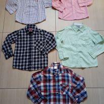 Kit com 5 camisas meninos manga longa tam. 4 e 6 pouco usadas