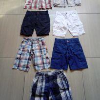 Kit com 7 bermudas meninos tam 4 e 5 usadas - 4 anos - Diversas