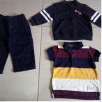 Kit 3 peças roupas bebê meninos Ralph Lauren Baby Gap Gymboree 12-24 meses - 12 a 18 meses - Baby Gap e Ralph Lauren
