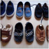 Lote com 6 pares de sapatos, tênis bebê meninos 18 ao 20