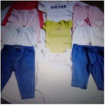 Lote com 10 peças roupas bebê meninas 0 a 3 meses Carter`s - 0 a 3 meses - Carter`s