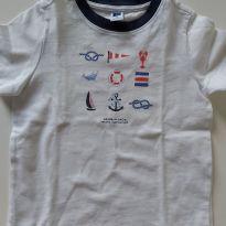 Camiseta navy - Janie and Jack 2T - 2 anos - Janie and Jack