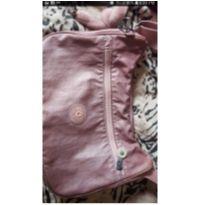 Bolsa kipling rosa metálica