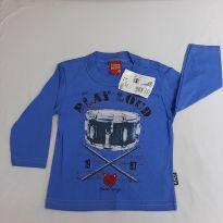 Camiseta manga longa kyly nova - 9 a 12 meses - Kyly