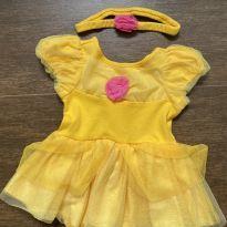 Body bebê DISNEY - princesa Bella - 9 a 12 meses - Disney