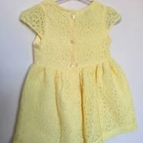 Vestido em renda amarelo - 9 a 12 meses - Teddy Boom