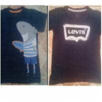 Lote com 2 camisetas: 1 da Levi`s e outra da Póim - 2 anos - Levi`s e Póim