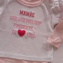 Body amo Mamãe Tam M - 3 a 6 meses - Não informada
