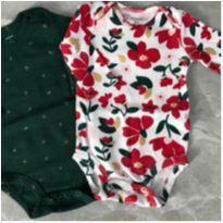 Kit 2 bodys floral e laços Carter´s - 3 meses - Carter`s