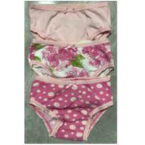 Kit 3 calcinhas Marisol Floral, Bolinhas e Lisa GB - 9 a 12 meses - Marisol