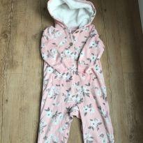 Macacão floral rosa - 1 ano - Carter`s