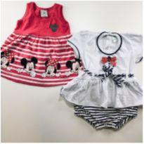 Kit vestidinho e body - 3 a 6 meses - Disney e bela fase