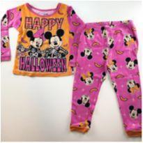 Pijama Happy Halloween Mickey e Minie - 3 anos - Disney