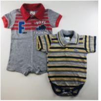 Kit body e macaquinho curto - 0 a 3 meses - Petutinha e Fantoni