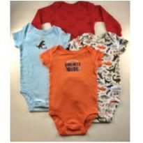 Kit 4 bodies Carter`s - 6 meses - Carter`s