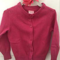 Casaquinho linho pink - 9 a 12 meses - Baby Way