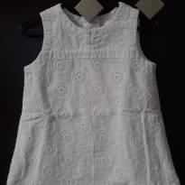 Vestido de Laís e branco - 9 a 12 meses - Baby Gap