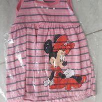 Vestido rosa minnie - 3 a 6 meses - Não informada