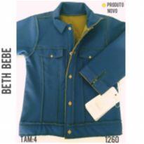 Jaqueta azul marinho, impermeável, forrada em soft. NOVA - 4 anos - Beth Bebê